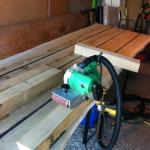 plankebord under forarbejdning