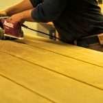 slibning af plankebord